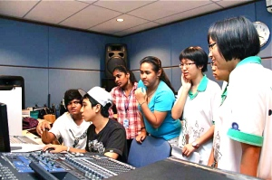 Recording studio at the best college in Penang for Mass Comm, KDU CollegePenang