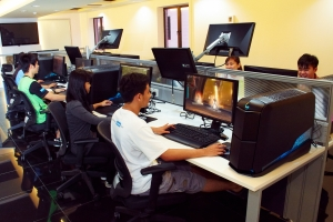 Game Lab equipped with Alienware for the Game Technology degree students