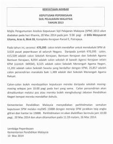 SPM Results Announcement
