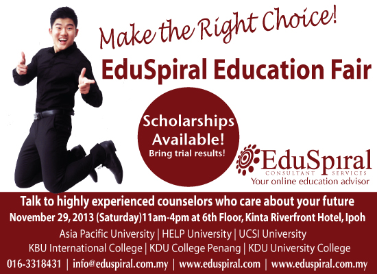 EduSpiral Education Fair 2014 at Kinta Riverfront Hotel
