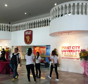 First City University College offers the A-Levels and AUSMAT at their 13-acre campus in Bandar Utama