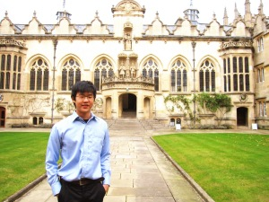 KDU's Wong Jin Eu, winner of the Outstanding Cambridge Learner Award, being the Top in Malaysia for History (A-Level) studying History at Oxford University, UK