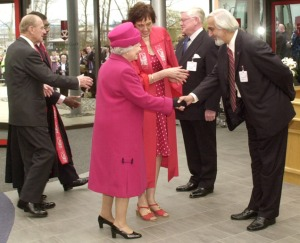 Dr. Parmjit Singh, CEO of APU, as the Pro-Chancellor of Staffordshire University and Executive Director of Asia Pacific University (APU) & APIIT Welcoming Her Majesty The Queen, accompanied by The Duke of Edinburgh to Staffordshire University, UK