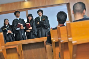 Law students at KDU College Moot Court