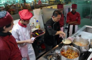Excellent kitchen facilities at UCSI University for their culinary arts and hospitality students