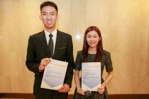 Mr Ng Rui Hao and Ms Venetia Wong Shin Yee, students from KDU University College Penang were being conferred the June 2014 Outstanding Cambridge Learner Awards - Top in the World (AS Mathematics) and Top in the World (AS Business Studies) A-Levels categories respectively