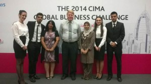 1st Runner Up in the 2014 Chartered Institute of Management Accounting (CIMA) GLOBAL Business Challenge Malaysia - Ali Atiq, Nikita Arabel Pironti, Kasimova Shafia and Veeresh Roy Joggesser, who are all third year BA (Hons) in Accounting and Finance students from Asia Pacific University (APU)