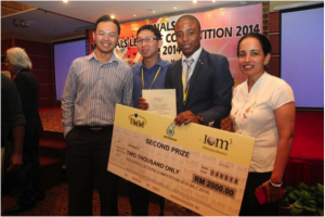 Kudzai Nigel Chitewe from Zimbabwe, and student of Asia Pacific University of Technology and Innovation (APU), wins Runner-Up Prize At the Malaysian Materials Lecture Competition 2014 Finals