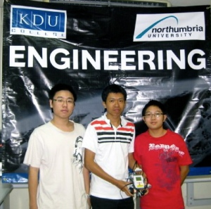 KDU College Penang engineering students will graduate with the degree from the top ranked Northumbria University, UK