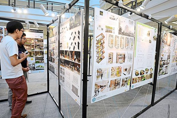 The Public Checking Out Final Projects Of Design Students At KBU International College