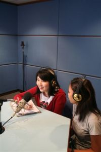KDU College Mass Comm students using the Recording Studio