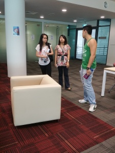When EduSpiral students tour the campus & see the environment for themselves, it helps them to decide whether the university fits them. Pic - Students touring the library at Heriot-Watt University Malaysia