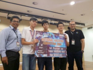 Team Yolo from Asia Pacific University of Technology & Innovation (APU) achieved the 1st Runner Up of the UTP-HAX National Hacking Competition 2014