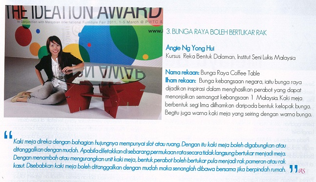 Malaysian Institute Of Art MIA Interior Design Student Ng Yong Hui Won The
