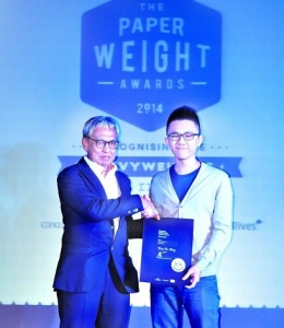 Malaysian Institute of Art (MIA) Graphic Design student, Wong Kar Ming won the Gold Award in Conqueror Happy Design Contest 2013-14 (Malaysia Awards)