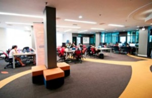 Curtin University Sarawak provides a conducive study environment at its library