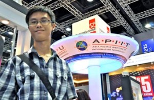 "I met EduSpiral at the Education Fair and he helped me to filter all the information from the universities and choose the best university that fit me."" Vincent Hoy, Mechatronic Engineering Scholarship student at Asia Pacific University"