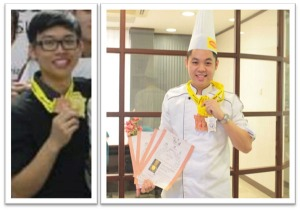 KDU College Penang Best Student Award for Achievement in Competitions 2014 - Culinary Arts students Ang Cheh Hua & Che Hong Ming