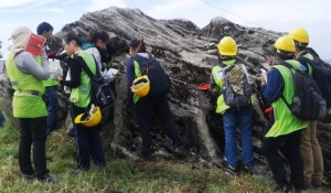 Curtin University Sarawak Applied Geology Degree students on a field trip