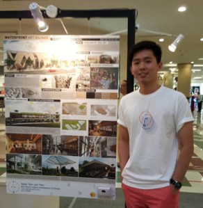 I met EduSpiral a few years ago after completing my Diploma at LKW. I wanted to continue my degree at a better university & EduSpiral showed the number of awards won by First City UC for interior design which convinced me. Jun Hao at his graduation showcase, Interior Design at First City University College