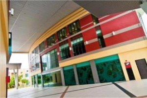 Exterior of The Library at The Chancellery Complex at Curtin University Sarawak