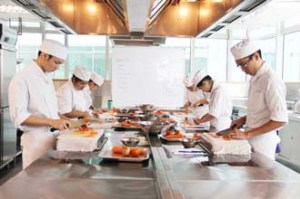 Excellent kitchen facilities to train students in Reliance College's new campus at Southgate in KL.