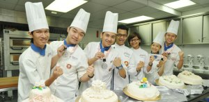 Award-winning patisserie students at Berjaya University College of Hospitality