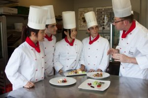Culinary Arts students at IMI Switzerland learn in a small personal setting taught by top chefs.