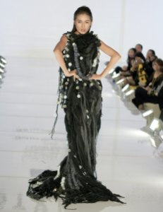 Famous model, Amber Chia, walked the runway in Saito student's fashion work.