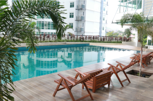 Swimming pool at IACT College