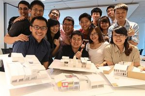Architecture students at Taylor's University