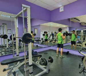 On campus gym at KDU Penang University College